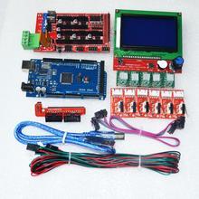 CNC 3D drukarki zestaw do Arduino Mega 2560 R3 + rampy 1.4 kontroler LCD + 12864 + 6 wyłącznik krańcowy ogranicznik + 5 A4988 sterownik krokowy