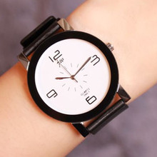 цена JW Famous Brand Quartz Watch Women Men Lovers Black Leather Simple Casual Wristwatches Clock Montre Femme Relogio Feminino xfcs