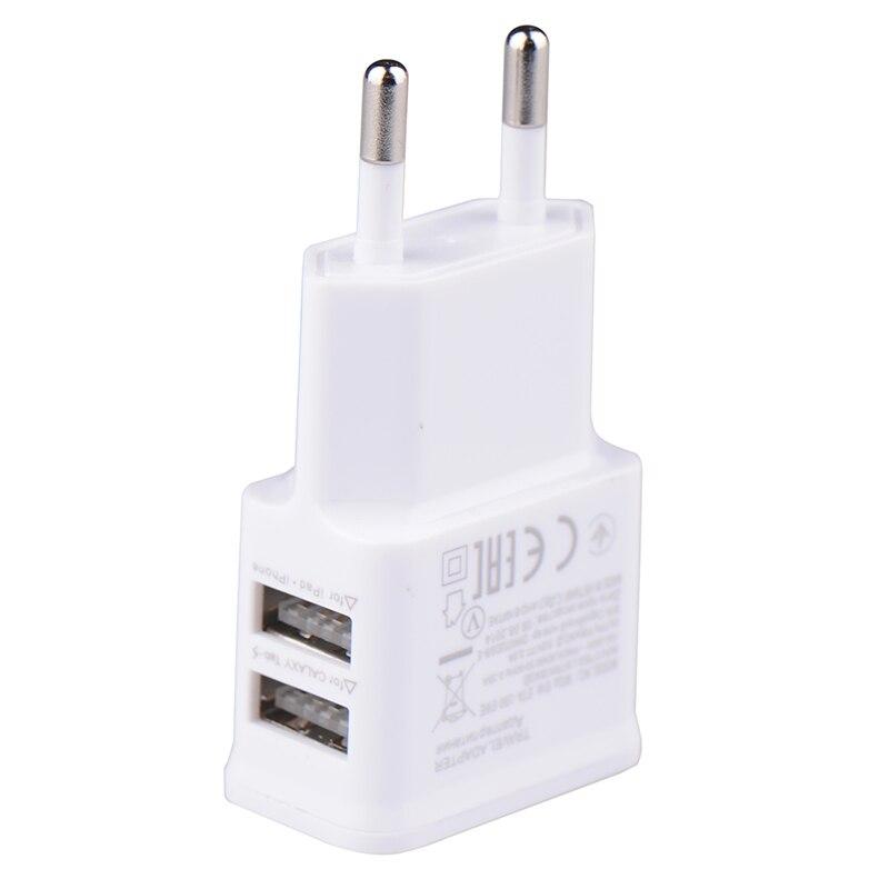 5V 2.0A Plug Dual Double USB Universal mobile phone charger