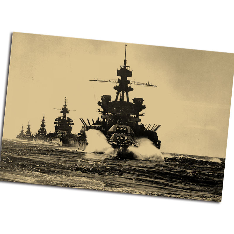 Vintage poster Old Photo World War II Battleship retro wall sticker print painting cafe home decoration posters