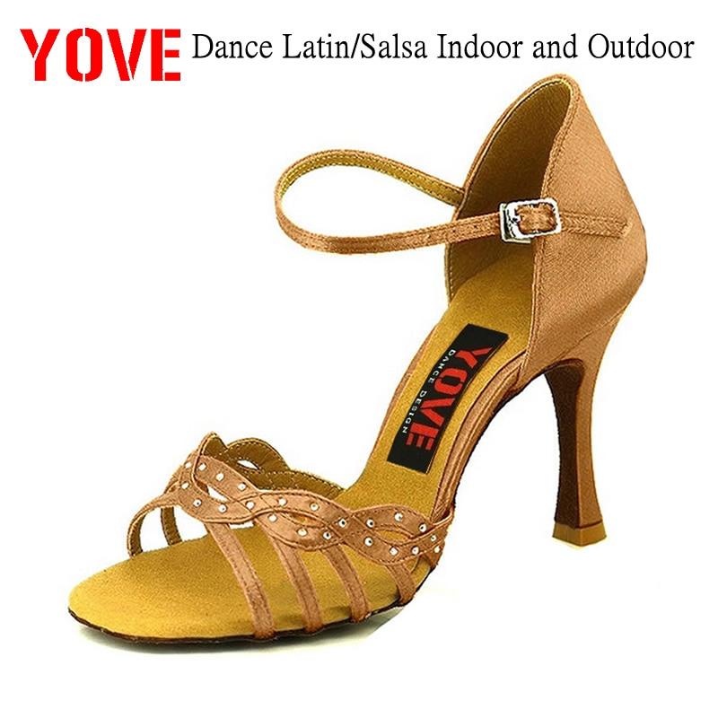 YOVE Style LD-1006 Kasut tarian Bachata / Salsa Kasut Tarian Wanita Dalam dan Luaran