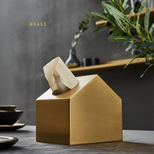 Accesorio de baño dispensador de toallas de papel cepillado de latón accesorio de cocina caja de pañuelos cubierta cajas de cocina para decoración soporte de pañuelos