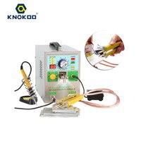 4 IN1 двойной светодиодный подвижные Mig импульсный Аккумуляторный аппарат для точечной сварки: Sunkko 709AD с 71B сварочный электрод для сварки разл