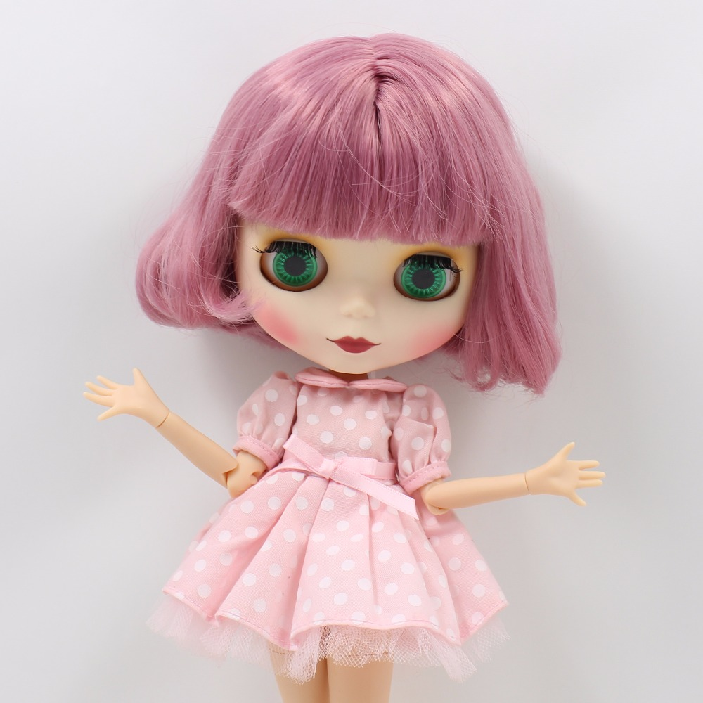 Neo Blythe Doll with Pink Hair, White Skin, Matte Face & Jointed Body 3
