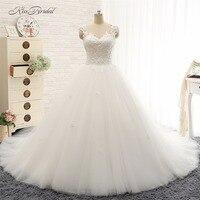 Princess Ball Gown Wedding Dresses Robe De Mariee Sexy Backless Lace Appliques Bridal Gown Vestido De