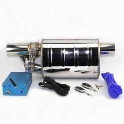 Nowy układ wydechowy 76mm ze stali nierdzewnej elektryczny układ wydechowy zawór odcinający z elektronicznym przełącznikiem zdalnego sterowania rura wydechowa w Tłumiki od Samochody i motocykle na