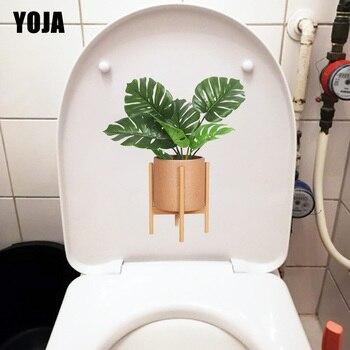 YOJA, 18,7x21,7 CM, adhesivo para baño bonsái de Planta Fresca, decoración para el hogar para las paredes del salón, T1-0887