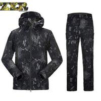 Lurker Shark Skin Soft Shell Military Tactical Suits Men Waterproof Windproof Warm Camouflage Hooded Army Camo