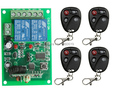 Free Shipping New DC 12V 2 CH 2CH RF Wireless Remote Control Switch System,4 X Transmitter + 1 X Receiver,315/433 MHZ