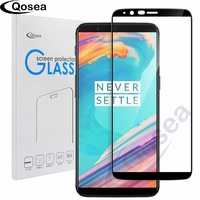 Qosea For Oneplus 5T Screen Protector Ultra Clear 9H 4D Round Full Curved Edge For Oneplus