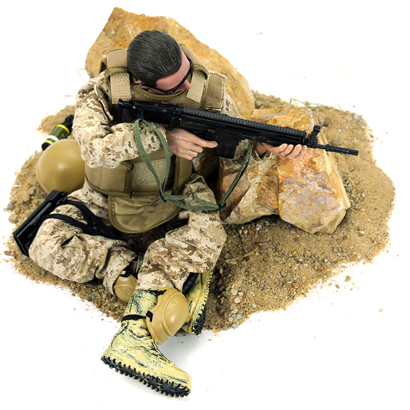 NB series 30cm camouflage plastic belt toy gun military model 16 soldiers