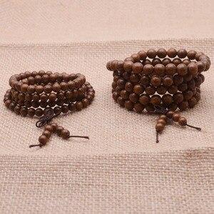 Image 2 - Yanqi di Alta Qualità Tibetano Mala Buddha braccialetto di perline Mara branelli di preghiera perline di legno naturale bracciali uomo braccialetti Del Rosario