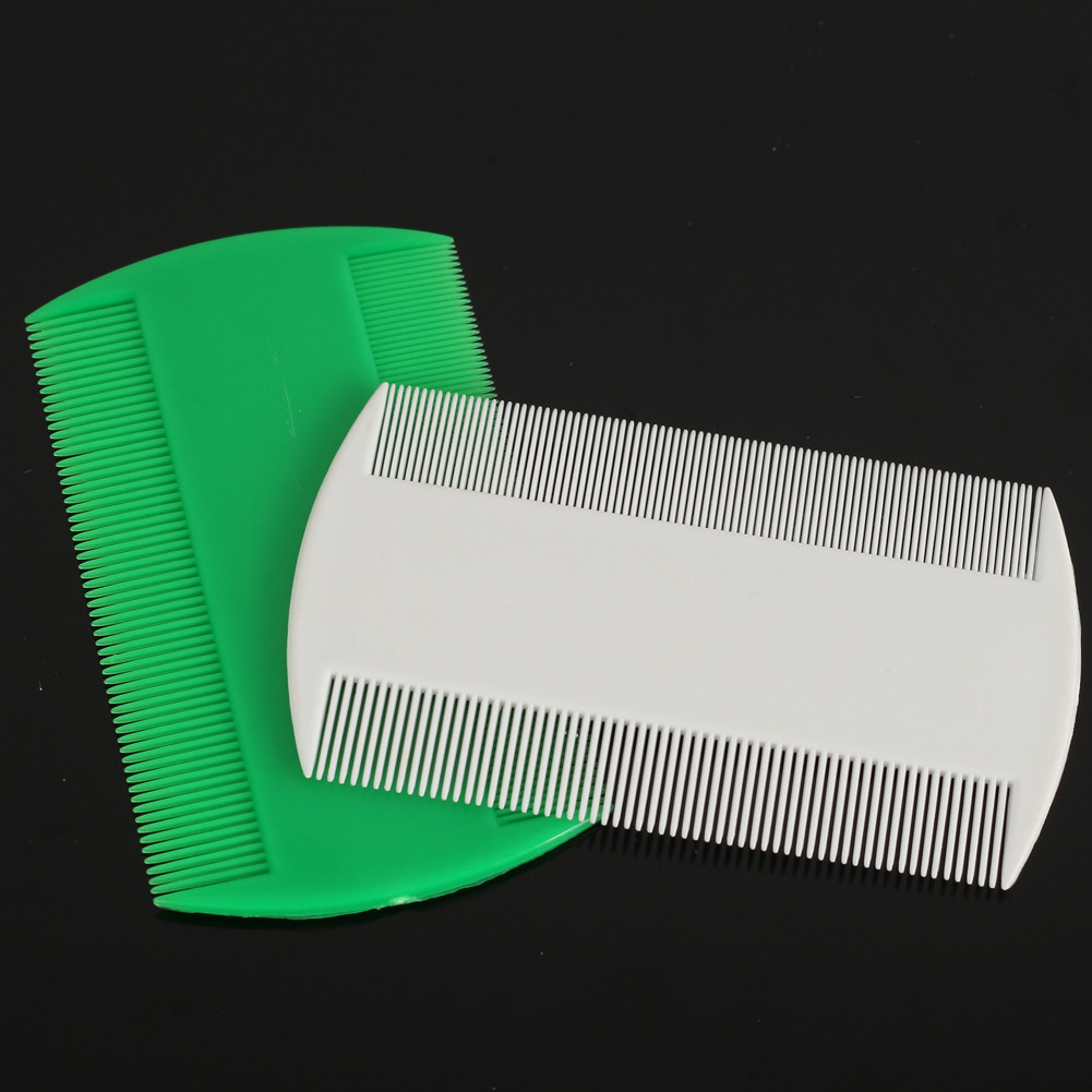 2pcs plastic tooth combs double