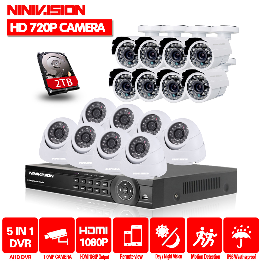 16ch AHD CCTV System 1.0MP 2000tvl DVR Kit 16CH AHD 1080P DVR 16pcs 720p CCTV indoor outdoor Camera PC&Mobile View Plug And Play16ch AHD CCTV System 1.0MP 2000tvl DVR Kit 16CH AHD 1080P DVR 16pcs 720p CCTV indoor outdoor Camera PC&Mobile View Plug And Play