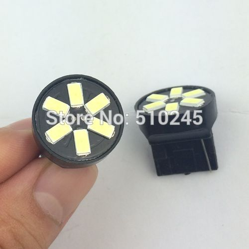 30X wholesles Car led lamp T20 W21W 6smd 7440 6 LED SMD 5630 5730 Turn signal lights free shipping