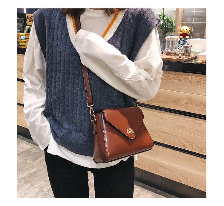 European Fashion Retro Ladies Square bag 2018 New High quality PU Leather Women's Designer Handbag Lock Shoulder Messenger Bags 15