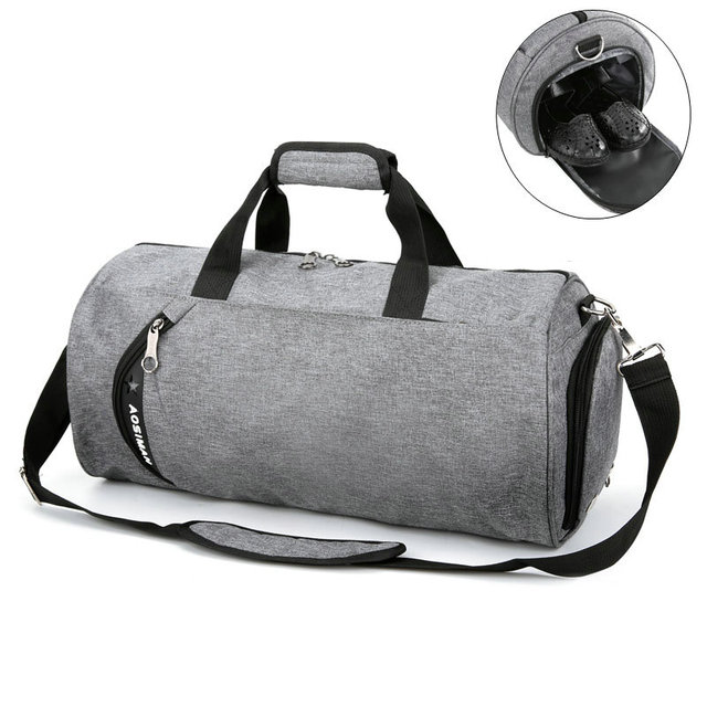 Sport Bag For Women Fitness Men Canvas Football Training Hangbag Large Capacity Travel Single Shoulder