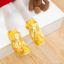 2017 Spring and Winter Rainproof Shoes Cover Anti-skid Overshoes Boots Children High Thickening Cylinder Shoe Cover