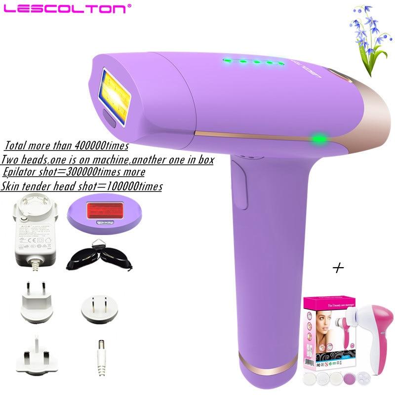 400000 impulsi Lescolton depiladora Laser Macchina di Rimozione Dei Capelli Epilatore Laser Depilazione Bikini Trimmer epilatore Elettrico delle donne
