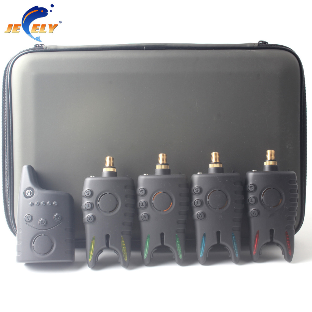 все цены на New Arrival Wireless Bite Alarm Set Carp Fishing Bite Alarm Set with Receiver JY-49 / box онлайн
