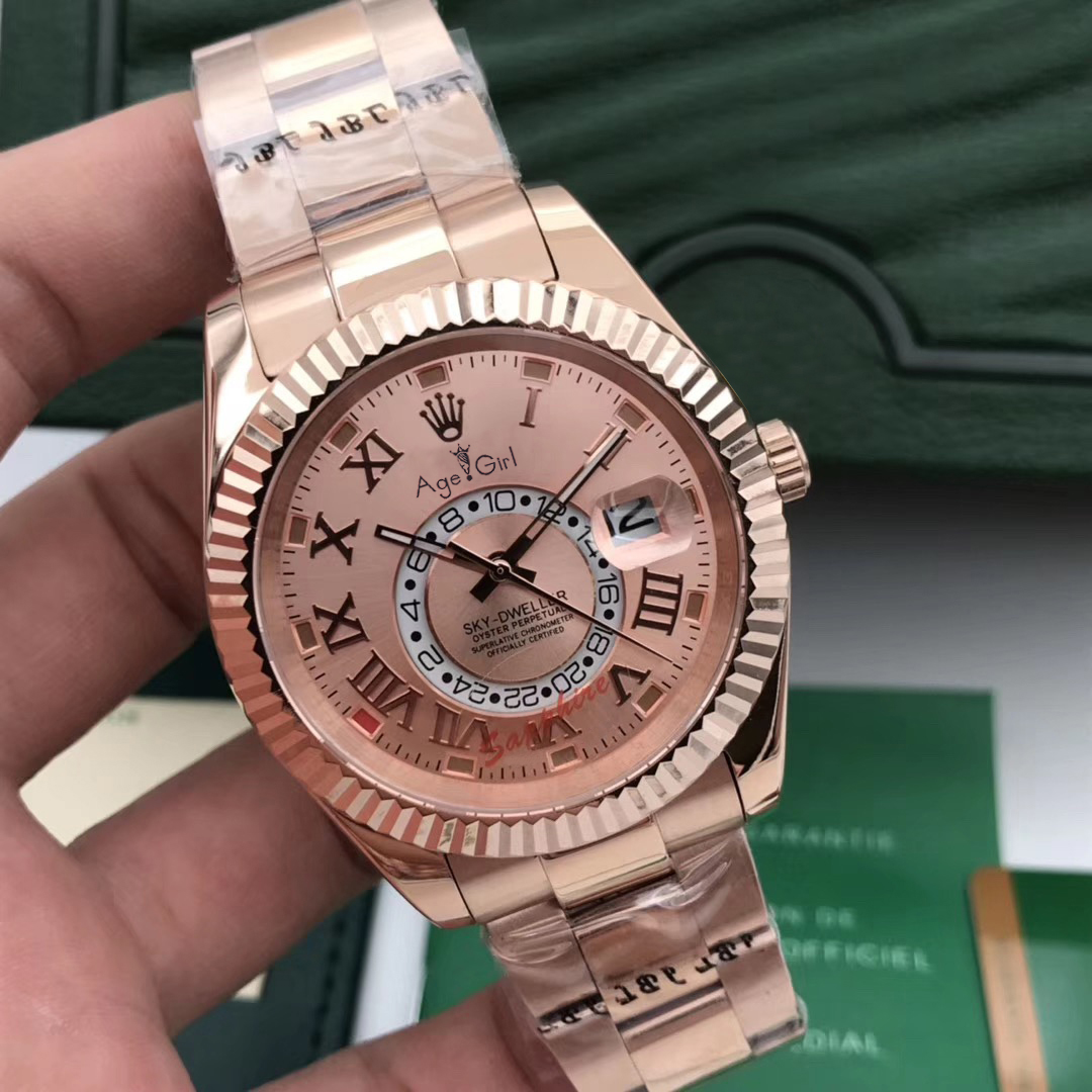 Luxury Brand New Men Automatic Mechanical Self Wind Watches Sky Silver Black Blue White Crystal Sapphire Rose Gold Sport 41MMLuxury Brand New Men Automatic Mechanical Self Wind Watches Sky Silver Black Blue White Crystal Sapphire Rose Gold Sport 41MM