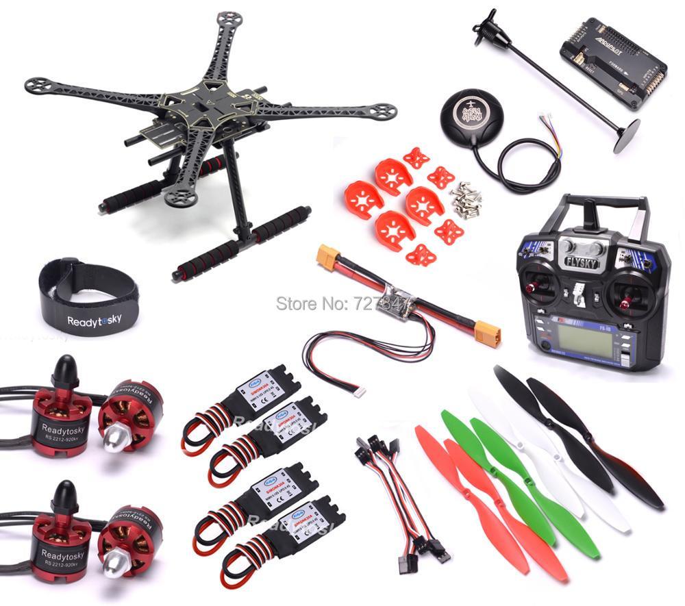Super Combo 500mm 500 S500 Quadcopter Frame APM2.8 NEO-M8N 8N GPS Power Module 2212 920KV Motor 30A Simonk ESC 1045 Propeller 500mm s500 quadcopter multicopter frame kit 2212 920kv brushless motor emax 30a simonk emax blheli 30a esc 1045 propeller