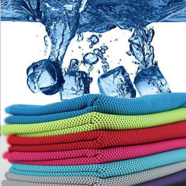 Hot 1 PC Cozy Ice Cold Enduring Running Jogging Gym Chilly Pad Instant Cooling Towel Sports Summer