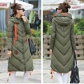 Fashion Ladies Coats Army Green 2016 Winter Coat Women Parka Long Thick Warm Down Cotton Jacket Women Jackets And Coats Outwear