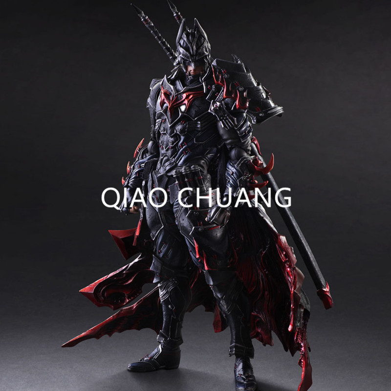 DC COMICS Play Arts KAI Batman Timeless Bushido PVC Action Figure Collectible Model Toy 27CM Fashion Decoration RETAIL BOX G55 play arts kai bleach kurosaki ichigo pvc action figure collectible model toy 27 5cm