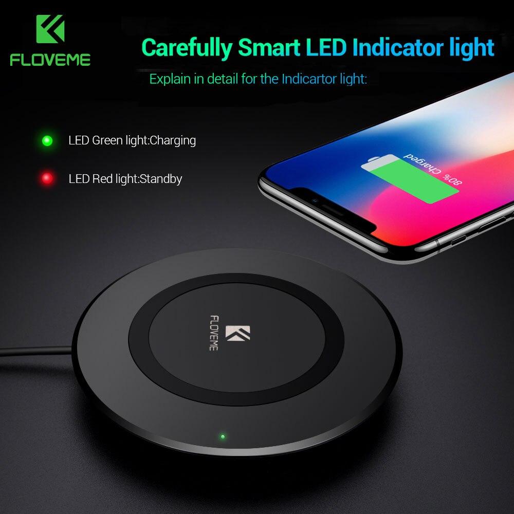 FLOVEME Qi Sans Fil Chargeur Pour iPhone X 8 8 Plus De Charge Pour Samsung Galaxy S8 S8 Plus S7 S6 bord Note 8 5 Téléphone Chargeurs Pad