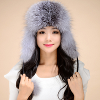Lei Feng genuine fox fur hat snow cap thickness hot full leather fox fur Russian hat ear protection cap free shipping