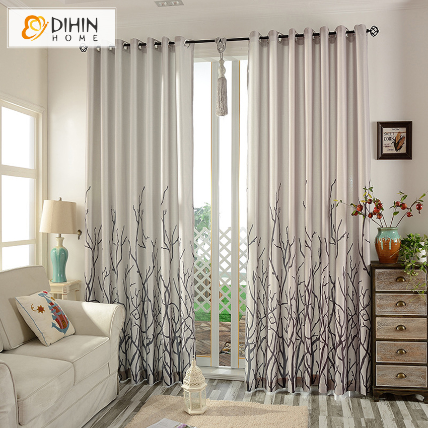 DIHIN 1 PC High Quality Printed Garden Curtains For Living Room Ready Made  Curtains Window Shade