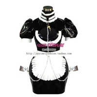 Sexy Sissy Maid Pvc Dress Uniform Lockable Cosplay Costume Tailor made