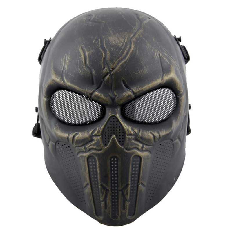 DC12 Military Tactical Punisher Skull Ghost Full Face Protective Mask Army Airsoft Paintball Wargame Cosplay Halloween Party