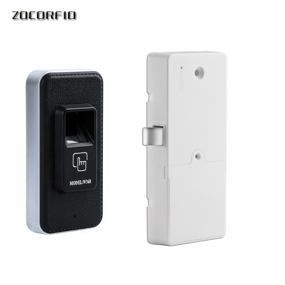 DIY Dry battery fingerprint drawer lock electronic Cabinet lock ...