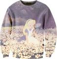 Women Men 3D Princess Alice In Wonderland Sweatshirt Cartoon Crewneck Sweats Spring Autumn Unisex Sweatshirts Outfit Pullover