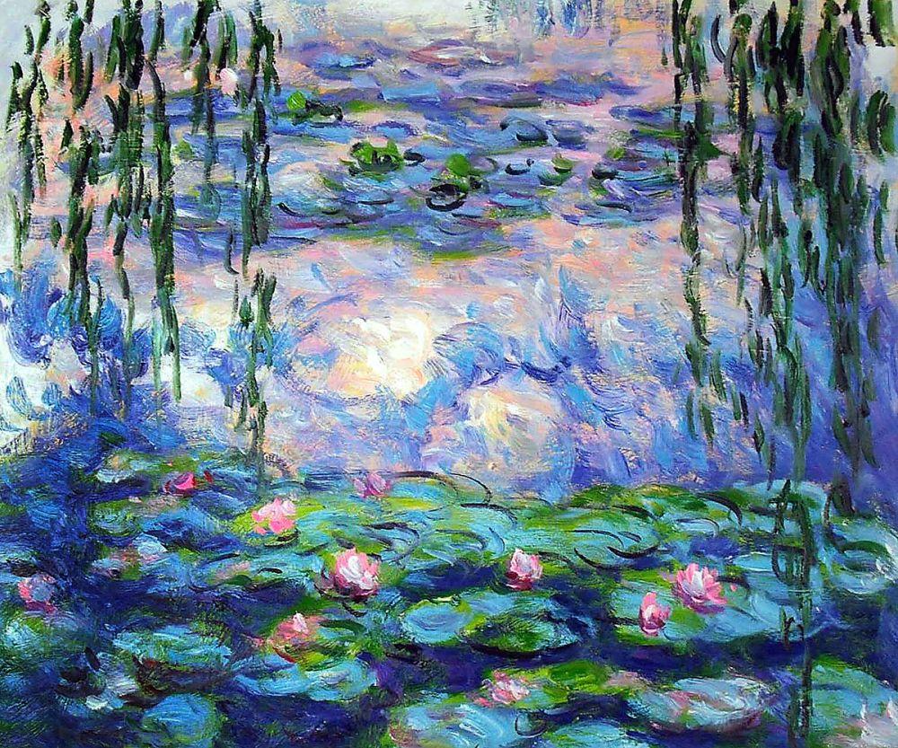 Peint à la main fleur huile toile peinture paysage