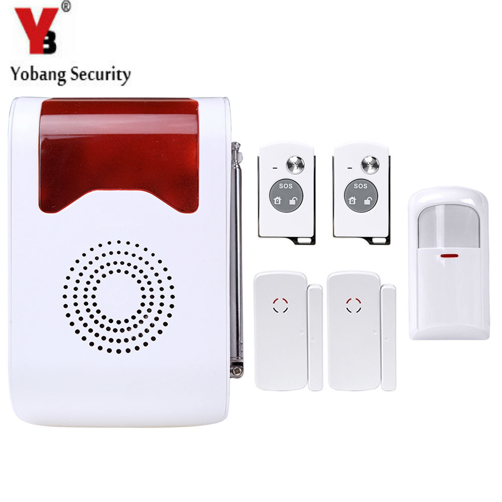 YobangSecurity Wireless Home Security Burglar Alarm kit System Auto Dialing Wireless Voice Host PIR Motion Door Window Sensor yobangsecurity touch keypad wireless gsm sms smart home security burglar alarm system smoke sensor voice pir motion door window