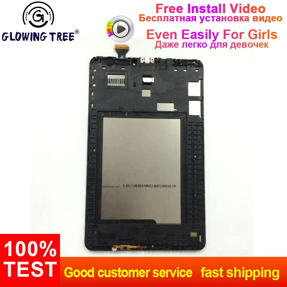 For Samsung Galaxy Tab E 9.6 T560 SM-T560 SM-T561  LCD Display Monitor + Touch Screen Digitizer Sensor Assembly FrameFor Samsung Galaxy Tab E 9.6 T560 SM-T560 SM-T561  LCD Display Monitor + Touch Screen Digitizer Sensor Assembly Frame
