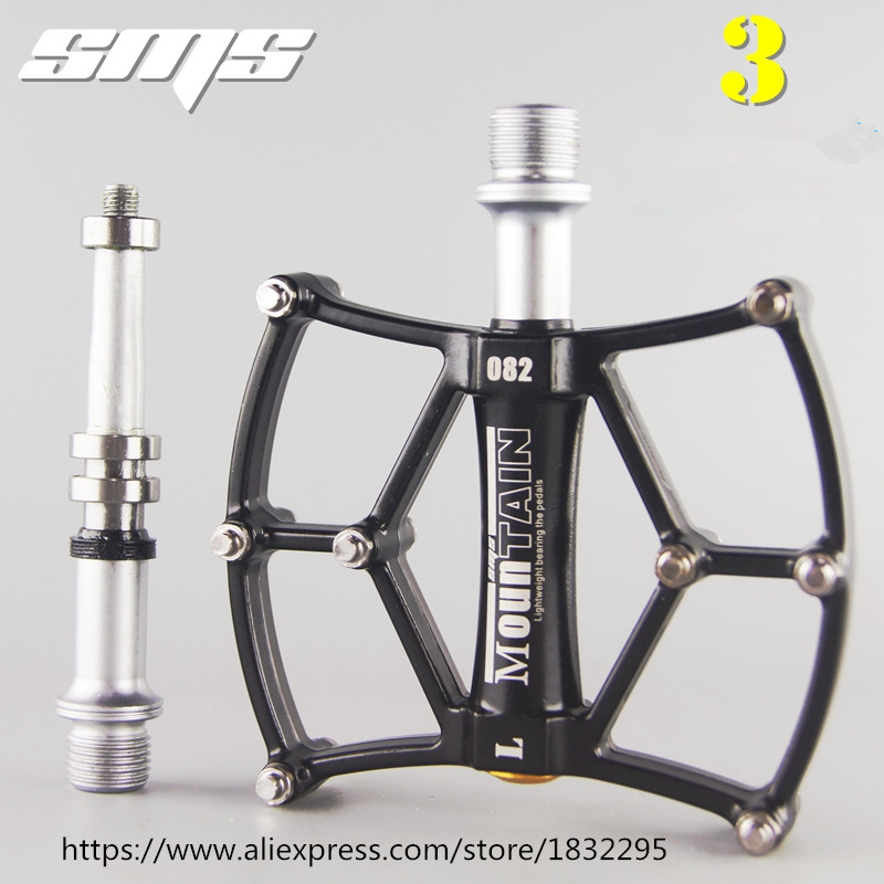 Bicycle Pedal Aluminum/Alloy Mountain Bike Pedals Road Cycling Sealed 3 Bearing Pedals BMX UltraLight bike Pedal Bicycle Parts стоимость