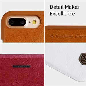 Image 4 - For iphone 7 8 Flip Case iphone 7+ 8+ PLUS Cover Nillkin Qin Vintage Leather Card Pocket Flip Cover For iphone 8 Phone Bags