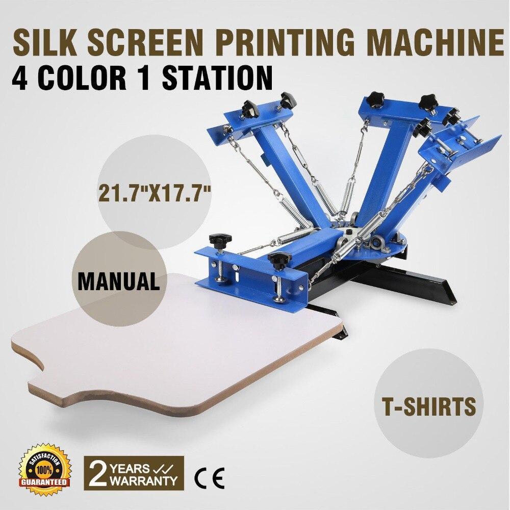 4 color 1 estación Manual t camisa de seda máquina de impresión de pantalla para la venta
