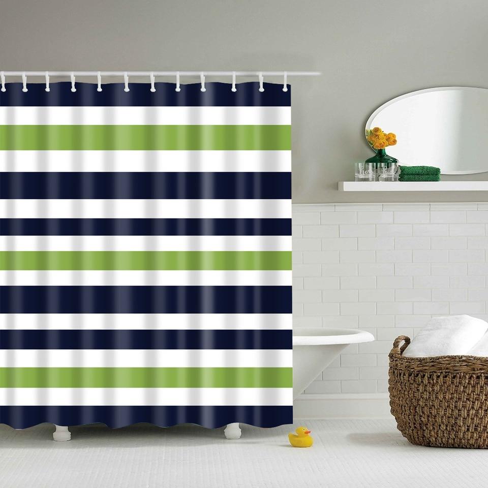 Yellow stripe shower curtain - Svetanya Striped Print Shower Curtains Bath Products Bathroom Decor With Hooks Waterproof 71x71 59x71