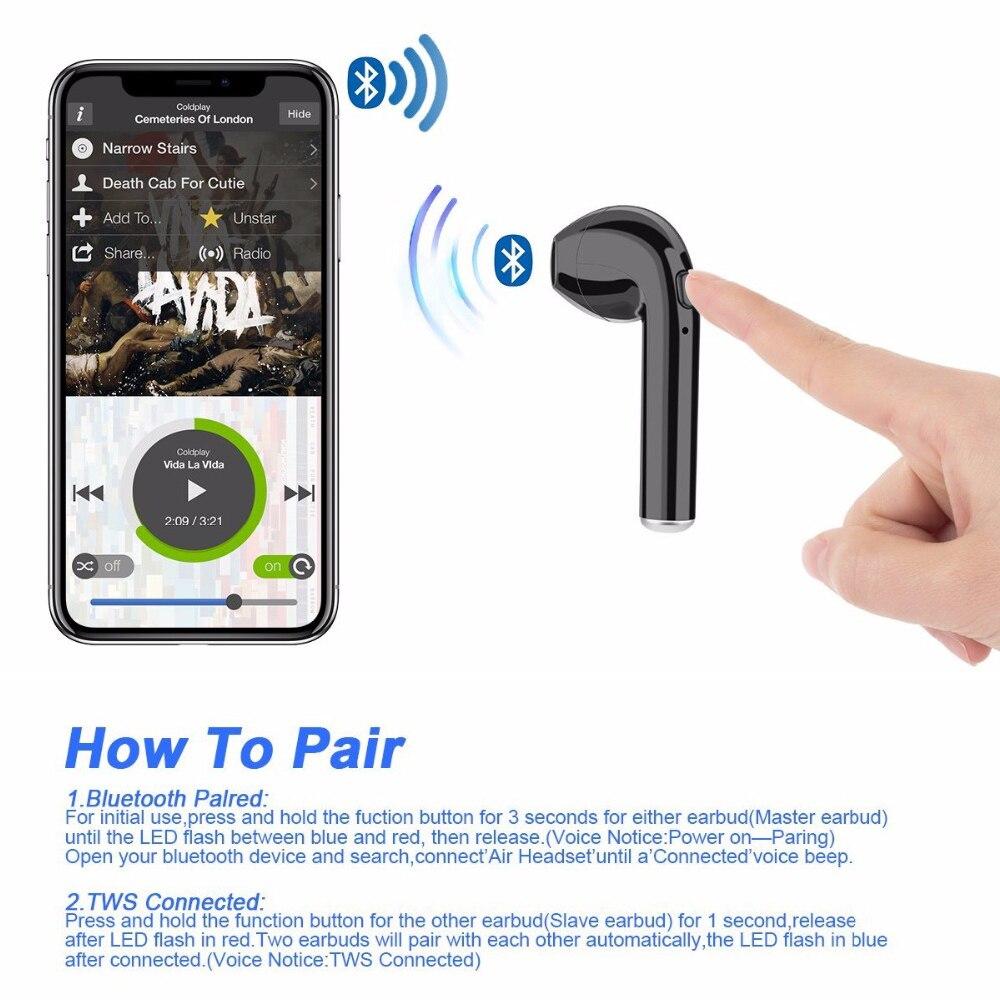i7s tws mini wireless bluetooth earphone 5.0 with charging box and mic
