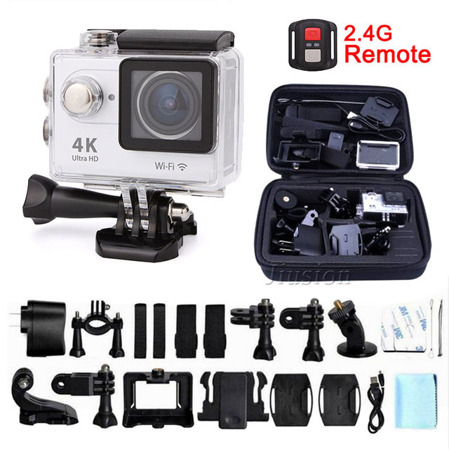 2.4G Remote Ultra HD 4K WiFi Mini Action Camera 1080P Sport Cam Set Helmet Go Pro Style For Xiao Mi Yi Water Resistant Camcorder