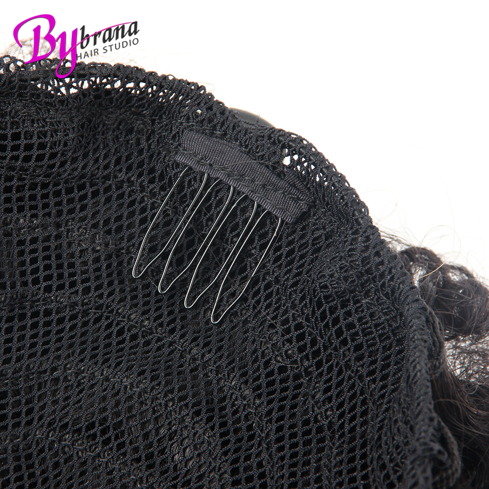 Afro Kinky Curly Ponytail Chignon For Women Natural Black Remy Hair Clip In Ponytails Drawstring 100% Human Hair Extension 1 PCS (7)