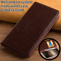 CH16 Luxury genuine leather wallet flip case with card holders for Samsung Galaxy A7 2017 phone case free shipping
