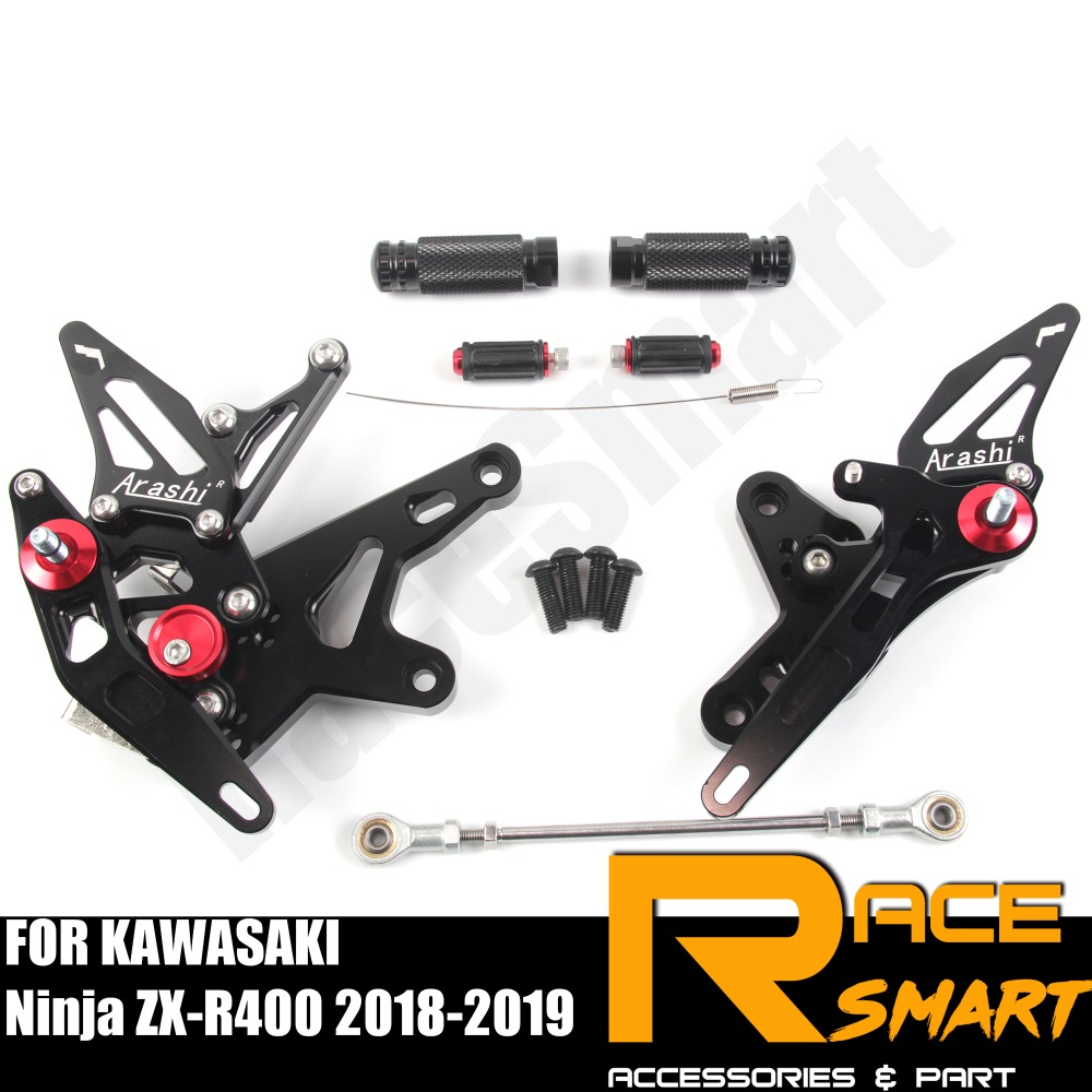 FOR KAWASAKI Ninja ZX-R400 2018 2019 ZXR-400  Rear Footrests Foot Rest Pegs Pedal Motorcycle Accessories CNC Adjustable Rearset