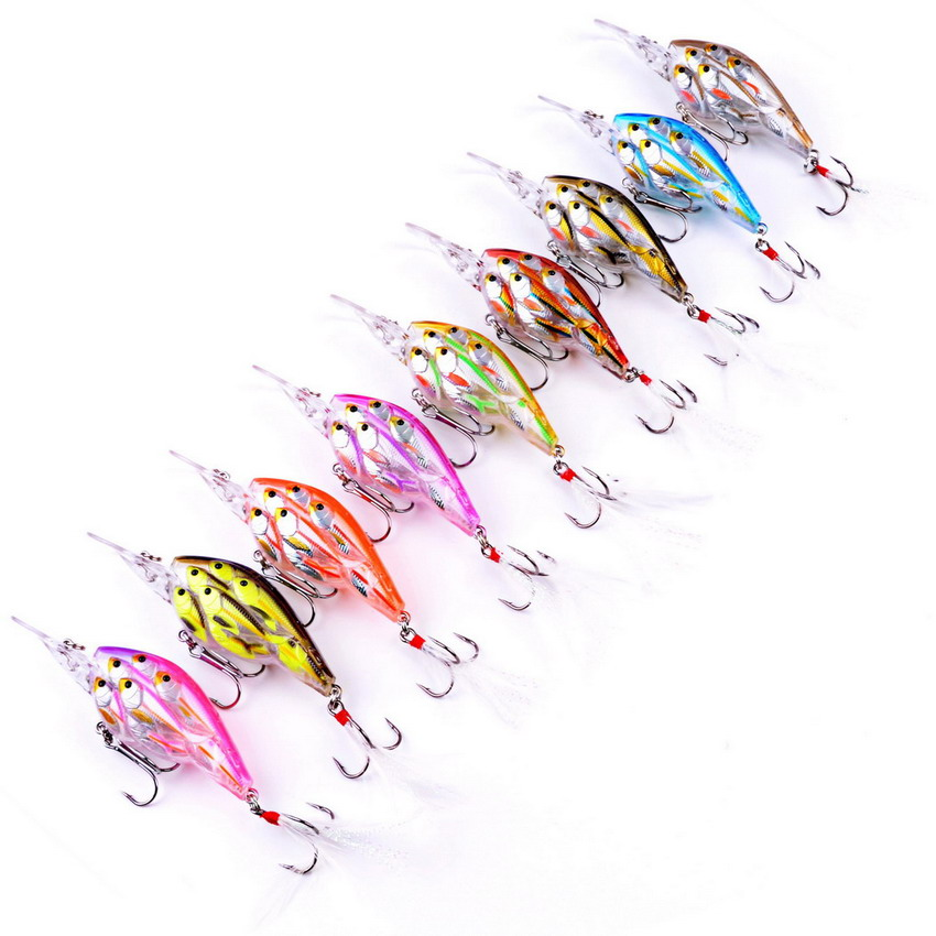 9pcs 9cm 12.5g/8cm 9.4g/11.5cm 19.1g Group 9 Colors Fishing Slow Sink Group Of Fish Baits Wobbler Bait Swim| | |  - title=