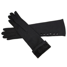 2017 new 38cm long knit mittens of cotton gloves and high elastic sleeve for the spring autumn heat preservation